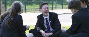 Students laughing